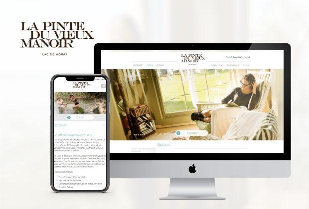 Vieux Manoir – Hotelwebseite inkl. Buchungsintegration