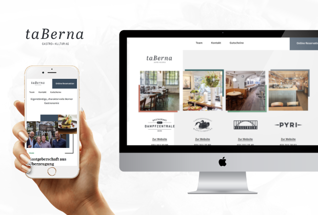taBerna Restaurant Websites Relaunch