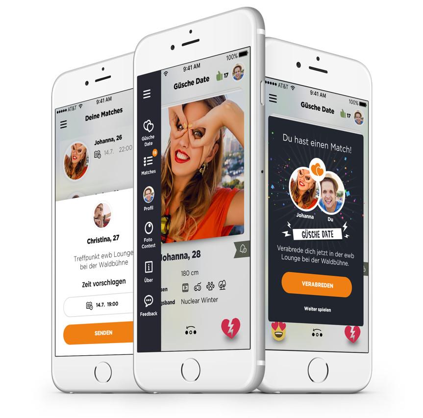 Güsche Date App Mockups