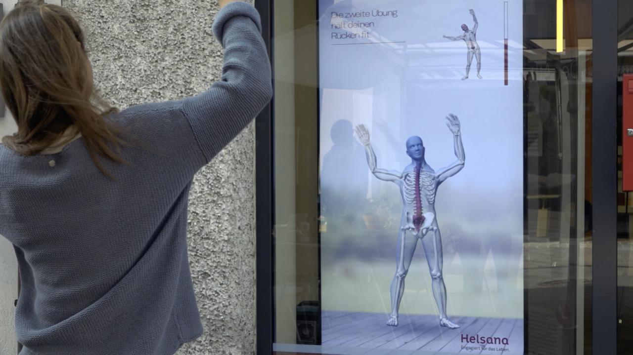 Interaktives Schaufenster   The Swiss Digital