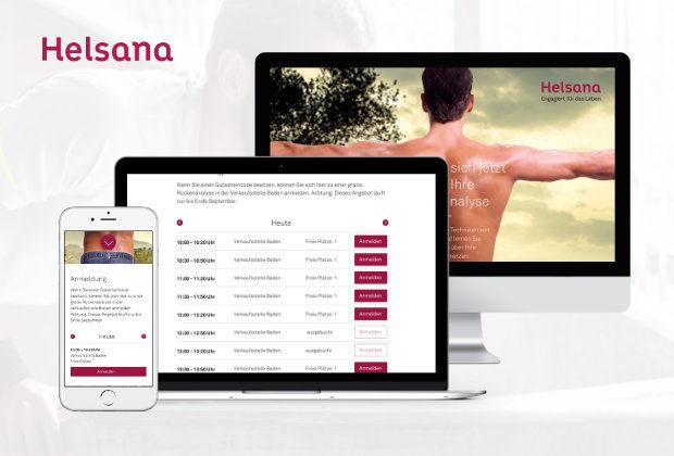Bookingtool – Helsana Kampagne