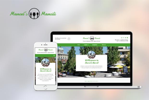 Restaurantwebseite Marcels Marcili