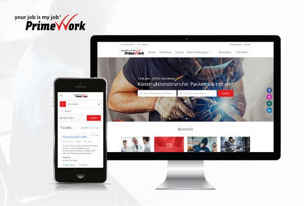 Primework Webportal – Relaunch Jobsuchplattform