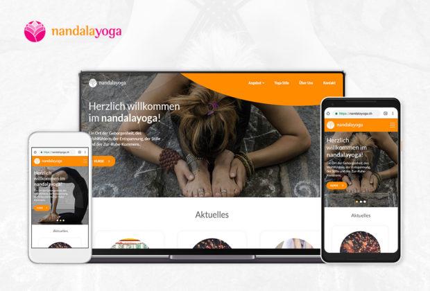 nandalayoga Webauftritt