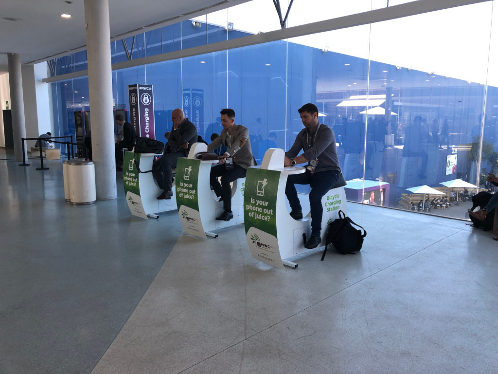 Human Charging Smartphones with Cycling MWC