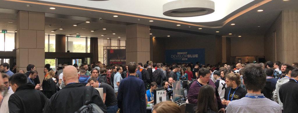 Reboot Develop Indie Expo Saal