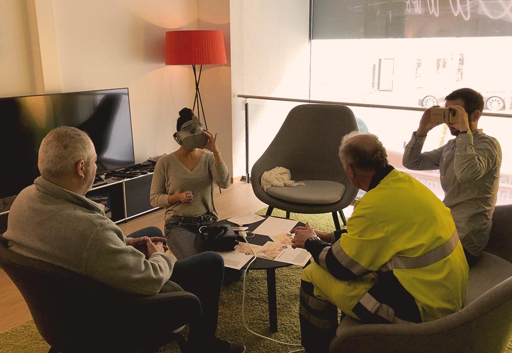 VR-Headset-Brillen Hands-on