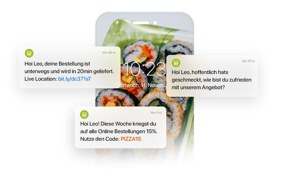 Kundeninteraktion mit Push-Notifications