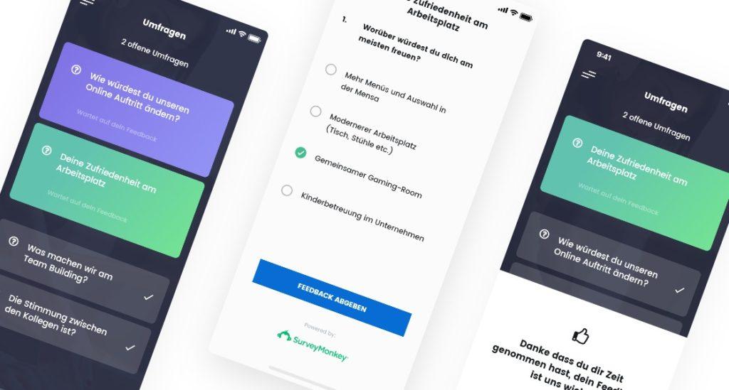 Mitarbeiterumfragen mit der App