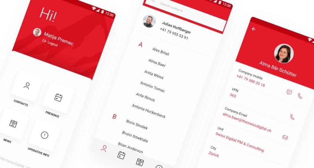 Mobiles Mitarbeiterverzeichnis