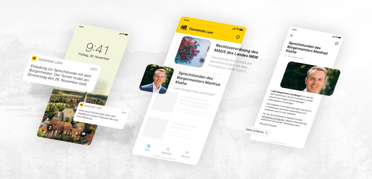 App Kommunikation mit Push Prinzip