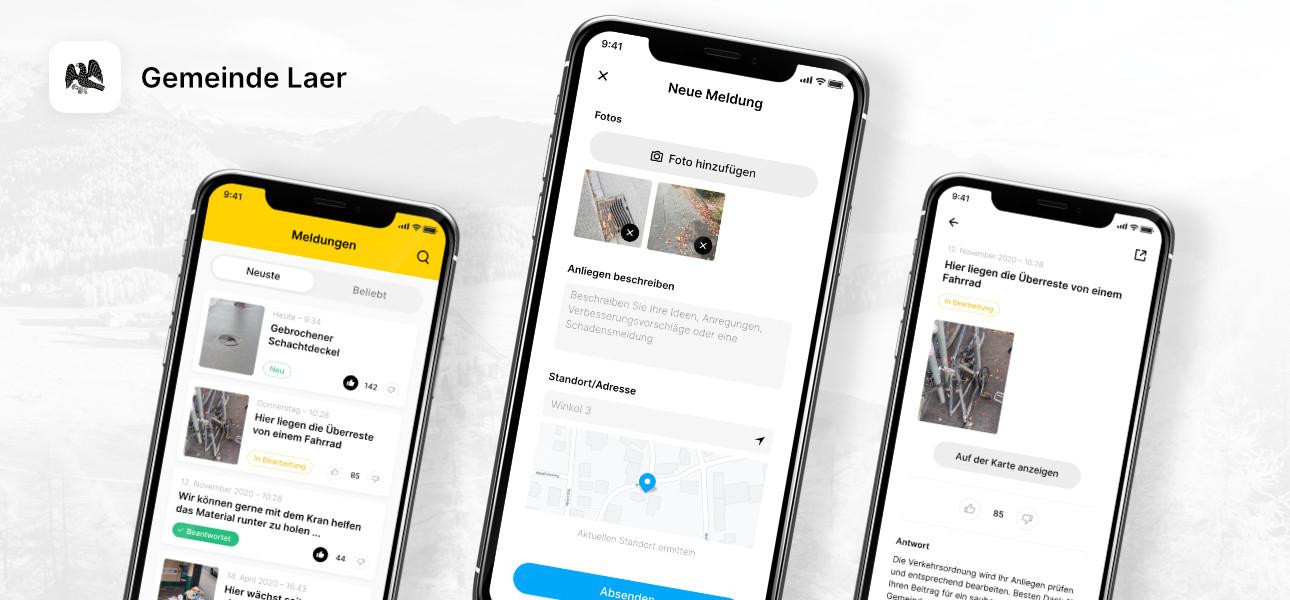Meldungen mit Gemeinde App