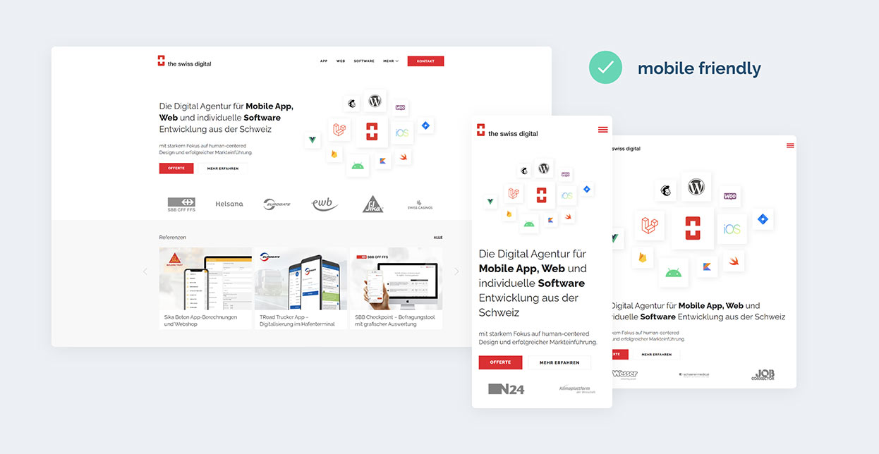 Mobile-friendly Webauftritte